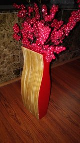 red wood vase in Spring, Texas