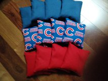 Cornhole Bags 4 Royal/4 Chicago Cubs/4 Red in Yorkville, Illinois