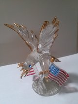 Glass Eagle and U.S. Flags in Vacaville, California