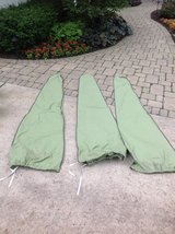Green Waterproof Outdoor Table Umbrella Cover from Restoration Hardware in Westmont, Illinois
