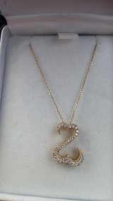 14kt Yellow Gold Open Heart Pendant Necklace - NEW in Sugar Grove, Illinois