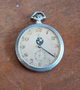 rare vintage bmw automatic silver case pocket watch junghans in Los Angeles, California