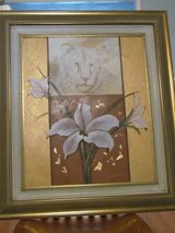 White Siberian Tiger&White Lily Oil Painting in Lockport, Illinois