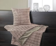 Blanket and Pillow - TAUPE POLYESTER FAUX-FUR - 2 pc Set - New in Fort Lewis, Washington