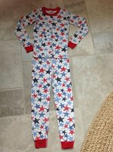 Hanna Andersson Red/White/Blue Star Cotton Pajamas Size 7-8 in Naperville, Illinois