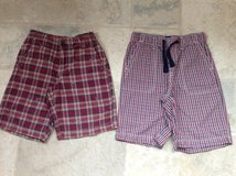 2 Pairs of Boys Shorts from The Gap - Size 7 (Red/White/Blue) in St. Charles, Illinois