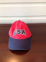 Boys USA Red/White/Blye Baseball Hat - Size 7-10 in St. Charles, Illinois