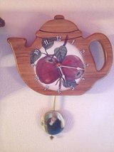 Hand Made Apple Teapot Clock in Brookfield, Wisconsin