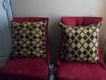 Brown & Gold Decorative Pillows in Kingwood, Texas