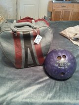 Bowling bag and ball in Savannah, Georgia