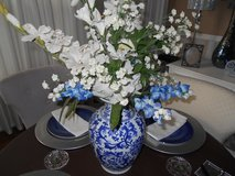 Garden Ridge Blue & White Vase With Flowers in The Woodlands, Texas
