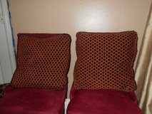 Maroon & Gold Decorative Pillows (2) in Spring, Texas