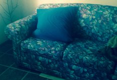 Pretty nylon Plastic like couch 3 cushion in Fort Lewis, Washington