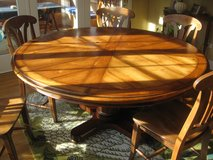 "Round Table  Solid Wood 60"" in Schaumburg, Illinois"