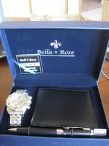 NEW IN BOX Mens watch wallet and pen set Bella & Rose in Alamogordo, New Mexico