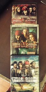 Pirates of the Caribbean Lot of 3 DVD's in Camp Lejeune, North Carolina