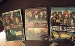 Pirates of the Caribbean DVDs (Lot of 3) in Camp Lejeune, North Carolina