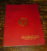 The University of Alabama Commencement Program May 15, 1999 in Camp Lejeune, North Carolina