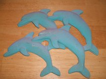 ~DOLPHINS~ (made of sand) in Camp Lejeune, North Carolina