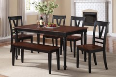 6PC Dining Set W Bench FREE DELIVERY in Camp Pendleton, California