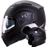Motorcycle helmet modular Bluetooth ready matte black sun visor in San Ysidro, California