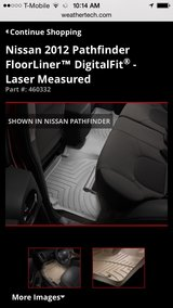 Weathertech 2nd row for pathfinder in Naperville, Illinois