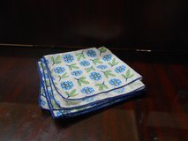 Blue & Green Cloth Napkins (4) in The Woodlands, Texas