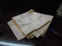 Cloth Napkins Cream Color (8) in Kingwood, Texas