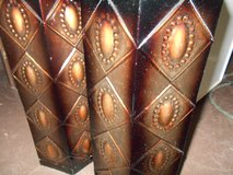 Beautiful Home Good Decorative Metal Vases (2) in Houston, Texas