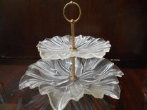 Decorative Glass Tiered Tray in Kingwood, Texas