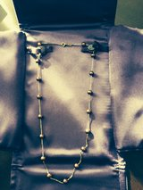 14k gold chocolate pearl necklace in New Lenox, Illinois