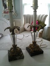 Pair of vintage marble lamps in Bolingbrook, Illinois
