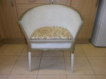 VINTAGE LLOYD LOOM STYLE BASKET WEAVED COMODE VERY DISCREET DISGUISED AS CHAIR in Lakenheath, UK