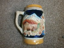 stein / tankard, original king, with pic of Aachen Cathedral in Lakenheath, UK