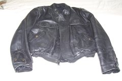 Heavy leather bikers jacket size 48, price reduced in Mountain Home, Idaho