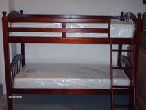 Bunk Beds Solid Cherry Wood New With New Mattress USA Made in Oceanside, California