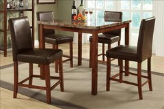 Marble Top Counter Height Dining Set FREE DELIVERY in Huntington Beach, California