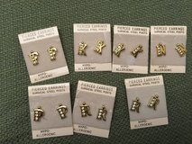 F - K - N - P - R Initials Pierced Earrings in Plainfield, Illinois
