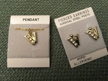 W Initial Pierced Earrings & Pendant in Plainfield, Illinois