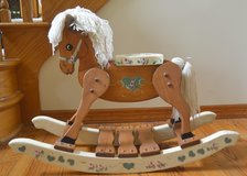 Custom, artisan handmade, wooden rocking horse (great for a babies room!) in Bolingbrook, Illinois