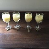 4 mini wine glass candles in Lockport, Illinois