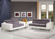 Leather-Material Combi Sofar Set-Westbury-also in All Leater - monthly payments possible in Cambridge, UK