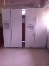 LIKE NEW Side by Side refrigerator with ice/water in door in Fort Benning, Georgia