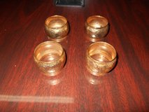 Gold Hammered Napkin Rings in Kingwood, Texas