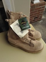Military tan boots in Fort Campbell, Kentucky