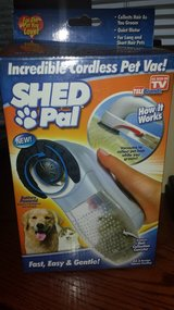 """Shed Pal"" Cordless Pet Hair Vacuum System...The Easy Way To Eliminate Pet Hair - NIB in Kingwood, Texas"