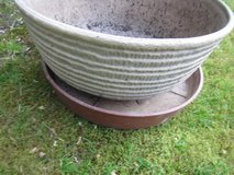Large bowl plastic planter with base in Ramstein, Germany