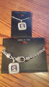 Valentine Gift For The LSU Person In Your Life -- Necklace & Bracelet Set - New in Kingwood, Texas