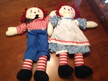 "EUC RARE 24"" Raggedy Ann & Andy Large Dolls Collectible Vintage in Houston, Texas"