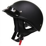 Motorcycle half helmet polo jockey style new never used Matte Black DOT base legal in San Ysidro, California